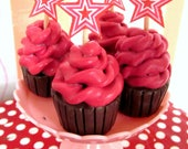 American Girl Birthday Party Cupcakes for 18 Inch Dolls, Party Supplies, Doll Party Favors, Doll Accessories
