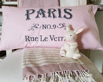 Handmade Parisian Themed Throw Pillow