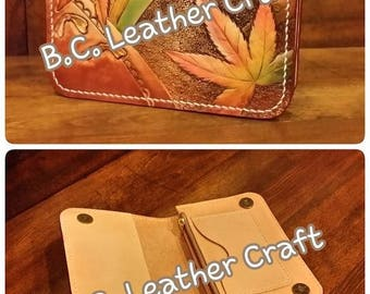 custom made leather wallet / handmade / leather craft
