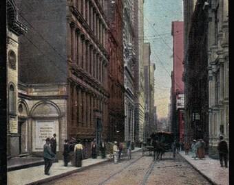 Pittsburg Pennsylvania Postcard 1907 Fourth Ave Financial District PA PC