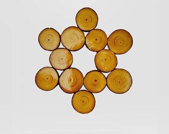 Star of David wooden hot pot plate