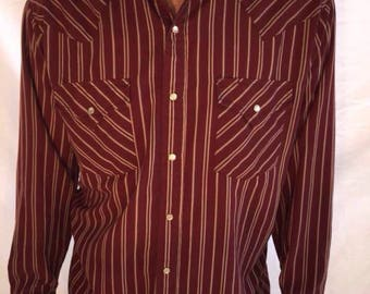 Vintage Medium Long Sleeve Western Button Up