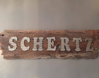 Personalized BarnWood Signs