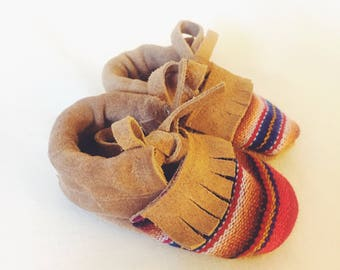 Sophie Fringe Baby Moccasin Booties