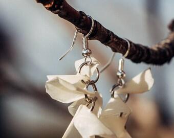 Ásdís - Handmade Icelandic design white fish earrings /wedding jewelry/bridesmaid gifts/unique jewelry/statement earrings/bridal earrings