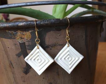 """Handmade Ceramic Earrings """"Adelaide"""""""