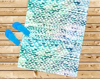 teen girl gift, Beach towel, mermaid towel, mermaid gift, mermaid tail towel, nautical gift, girl towel, for her, beach gift, beach house