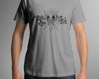 Ride to Live, Live to Ride Motorcycle T Shirt