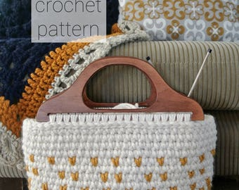 crochet pattern | THE HESPERIA tote | fair isle crochet tote