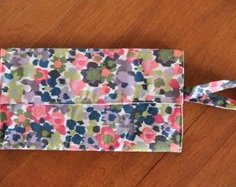 Diaper Clutch - Diaper Wallet - Diaper Bag Organizer - Abstract Floral Clutch