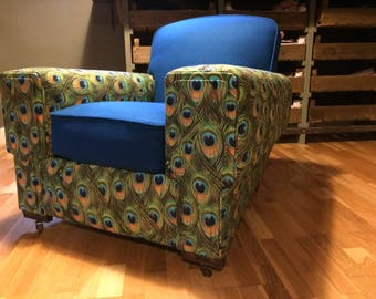 Awesome Re-Imagined Re-built Re-upholstered Art Deco Club Chair