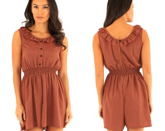 Mocca/tan/bronze playsuit/romper, casual, comfortable, new
