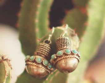 Silver & Turqoiuse Earrings
