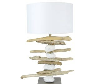 BEACHED WOODEN LAMP
