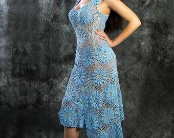 "Dress ""Blue Daisy"""
