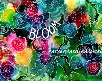 BLOOM Mixed Media Art Print 5x7