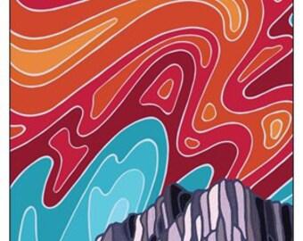 The Ghostrider, Fernie, Kootenays, Original Artwork Magnet