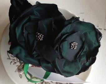 Green Taffeta headband