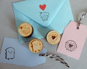 SECONDS - Kawaii Polymer Rubber Stamps - Bread Slice