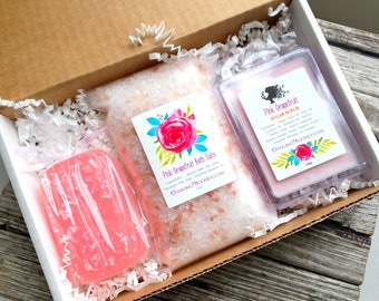 Grapefruit Gift Set . Bridesmaid Gift Box . Best Friend Birthday Gift Set . Spa Gift Set . Bridesmaid Box Set . Soap Sugar Scrub Bath Salts