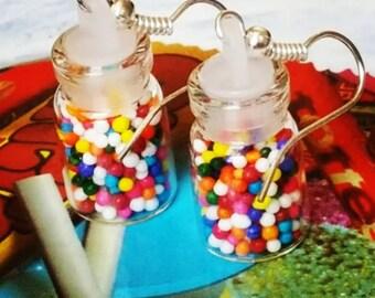 Gumball Jar Earrings