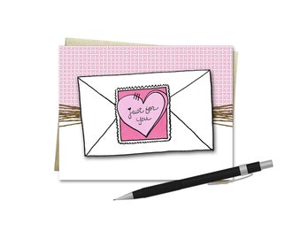 Love Card - Love Letter - Just For You - Valentine's Day Card
