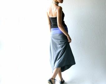 Maxi Skirt, Long skirt, Grey skirt, Boho skirt, Womens skirt, Strapless dress, womens clothing, Grey skirt, cotton skirt, Maternity clothes