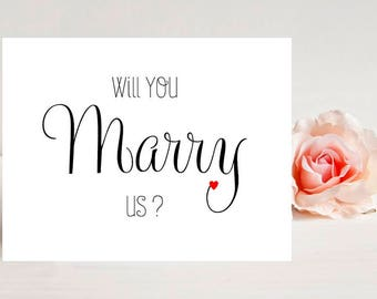 Card for officiant - Card for wedding - Wedding Cards- Will You Marry Us?