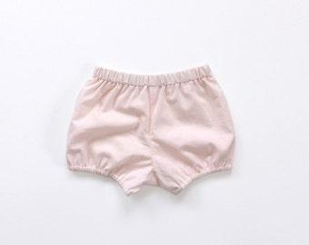 blush pink baby / toddler / girls bloomers / shorts