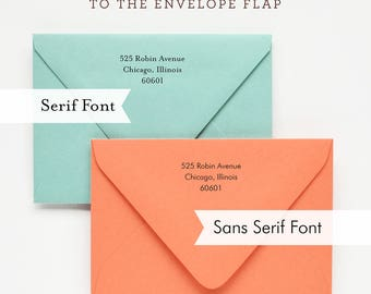 Envelope Return Address Printing
