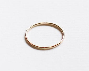 "thin 14k gold fill ring - dainty simple stacking band - ""linea"" ring by elephantine"