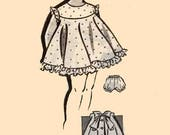1950s Girls Sundress with Panties/Bloomers and Back Bow Patt-O-Rama 8126 Vintage 50s Mail Order Sewing Pattern Size 2