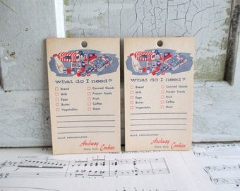 Pair of Vintage Archway Cookies Grocery List Note Pads