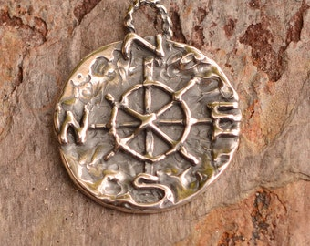 Artisan Compass Charm Sterling Silver, CH-597, Find Your True North