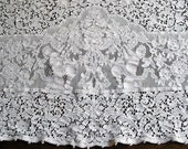 Quaker Lace Tablecloth, Vintage Table Linens, Putti Figural Design Inserts, Ivory Tablecloth, Dining and Entertainment, 61 x 76 Inches
