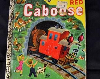 Vintage Children's Book  The Little Red Caboose Little Golden Book
