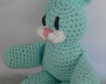 Amigurumi Easter Bunny - Crochet Easter Bunny -Bunny Rabbit Plushie -Stuffed Bunny Rabbit Toy -Plush Bunny Rabbit - Robin Egg Blue Bunny