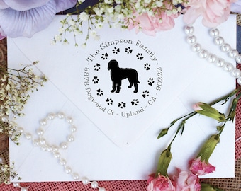 Labradoodle Dog Stamp, Labradoodle Lover Self Inking Return Address Stamp, Cute Stamp for Labradoodle Lover, Dog Stamp --10356-PI53-000