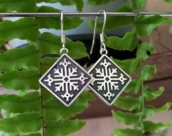 Fern Flower - Sterling Silver Earrings