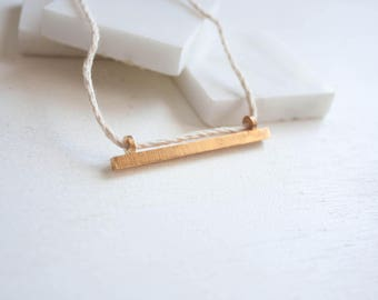 Long Bar Necklace // Minimalist Necklace / Long Minimalist Necklace / Skinny Bar Necklace / Minimalist Long / Long Necklace with Pendant