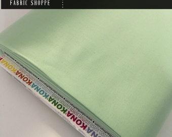 Kona cotton solid quilt fabric, Kona MINT 1234, mint fabric, Solid fabric Yardage, Kaufman, Cotton fabric, Choose the cut