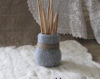 PDF Downloadable Knitting Pattern - Felted Vase