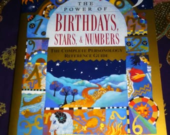 Vintage Huge Paperback The Power of Birthdays, Stars, & Numbers Complete Personality Reference Guide Book Astrology Numerology Free Shipping