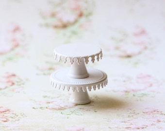 Dollhouse Miniature Lace Cake Stand - 2.5cm wide OR 3cm wide