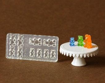 Dollhouse Miniature Gummy Bear Candy Mold