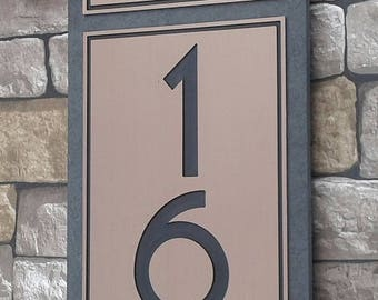Craftsman Dragonfly HOUSE NUMBERS Vertical Home Address Plaque