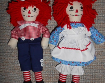 10 inch Traditional Raggedy Ann and Andy Doll Sets