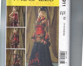 Misses Sewing Pattern McCalls M6911 6911 Misses Historical Costume Corset Victorian Bustle Steampunk  Saloon Girl 14 16 18 20 22 UNCUT