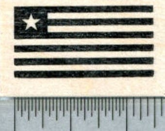 Flag of Liberia Rubber Stamp D31903 Wood Mounted