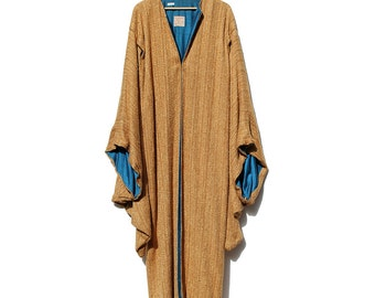 Vintage Costume Rust Brown Wool Floor Length Evening Coat